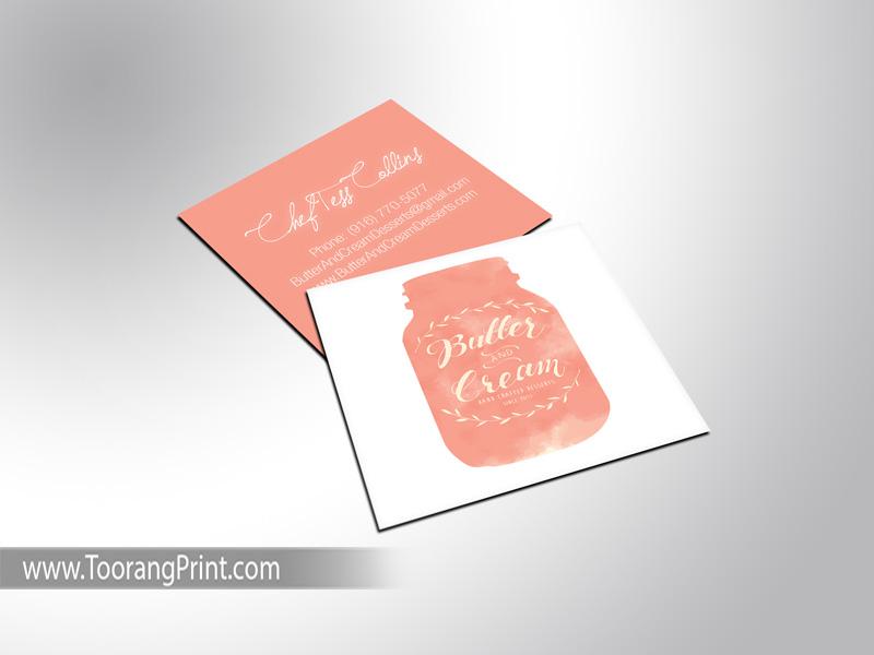کارت ویزیت مربعی براق