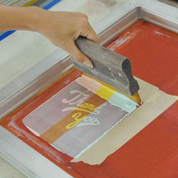 چاپ دستی اسکرین، چگونه چاپ دستی اسکرین انجام دهیم