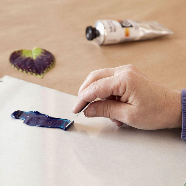 مرحله اول چاپ دستی با برگ، چاپ برگ، چاپ برگ در خانه