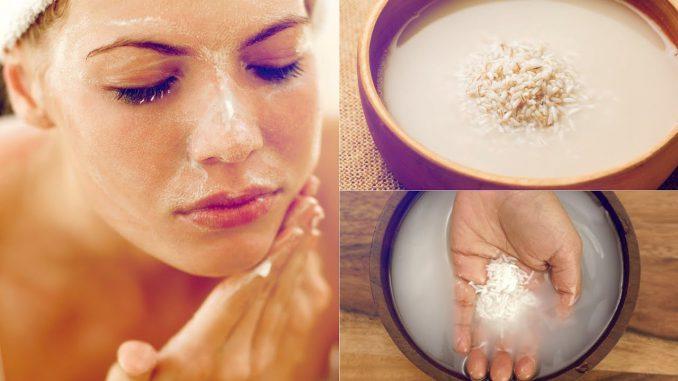 آب برنج برای پوست