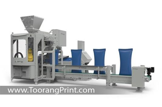 ماشین طراحی کیسه برنج و بسته بندی
