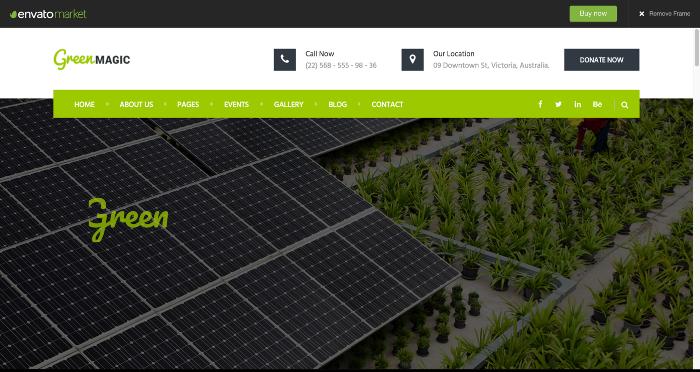 استفادره از رنگ سبز در فروشگاه اینترنتی