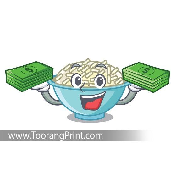 طراحی و چاپ کیسه برنج برنج کم هزینه