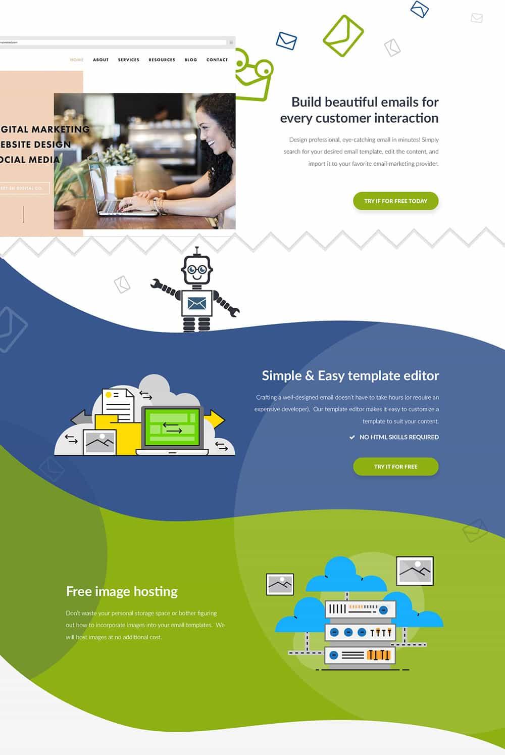اشکال هندسی در طراحی سایت