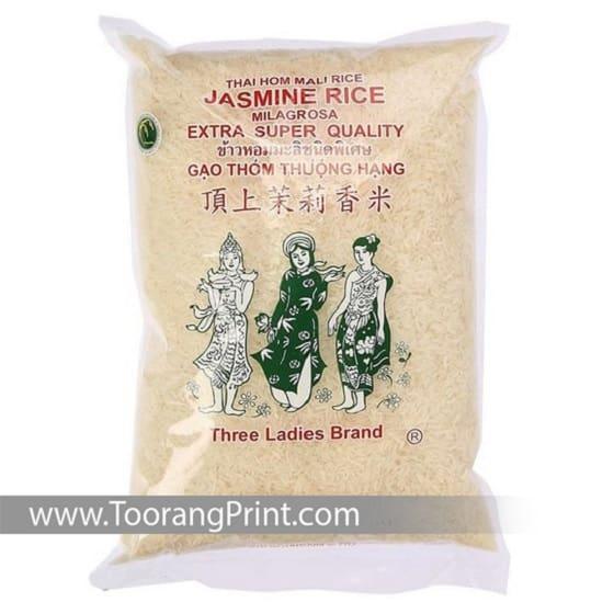 طراحی و بسته بندی کیسه برنج